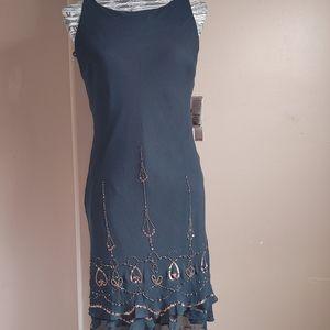 NWT Jones New York black silk semi formal dress